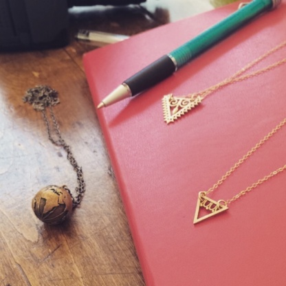 Triangle Eternal Youth Necklace, Arrow Goddess Necklace
