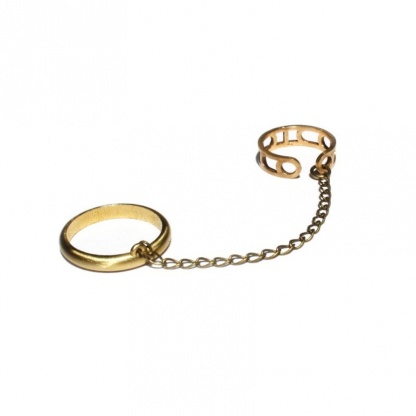 Moon Cycle Unisex Adjustable Ring, Safety Chain-Link Ring Accio Harry Potter