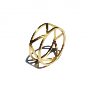 Triangle Pattern Unisex Ring