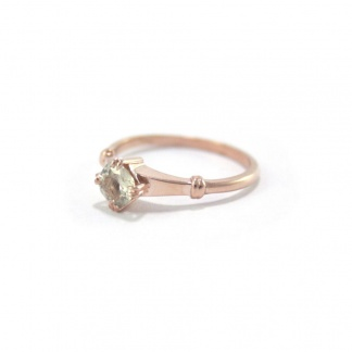 Rose-Gold Sapphire Engagement Ring