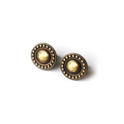 Round Greek Earrings