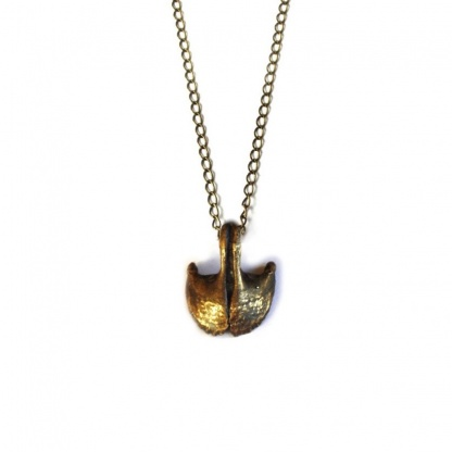 pisces fish jaw necklace