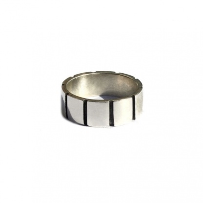 Square Pattern Unisex Ring