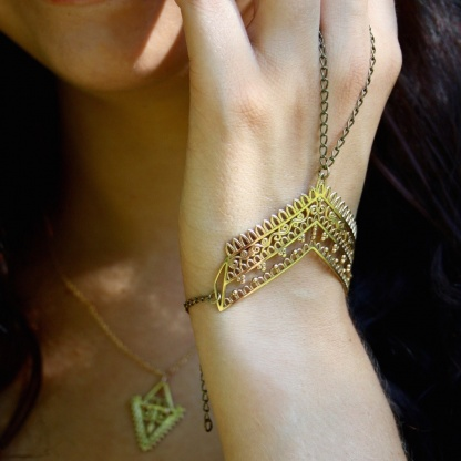 Mother Earth Henna Chain-linked Slave Bracelet