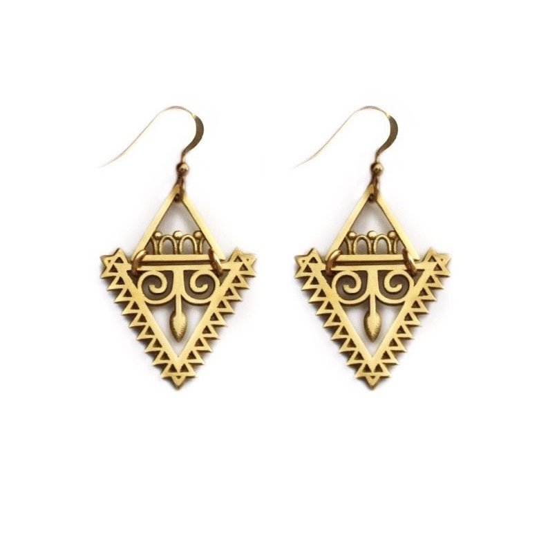 Triangle Arrow Goddess Earrings Hebe And Artemis