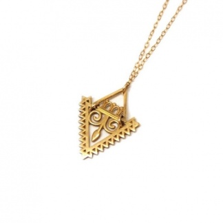 Triangle Arrow Goddess Necklace