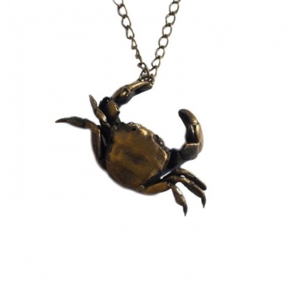 Crab Cancer Necklace