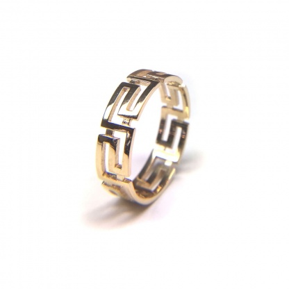 Greek Pattern Unisex Adjustable Ring