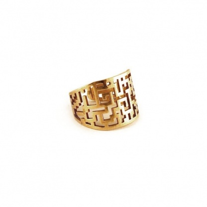 Maze Pattern Adjustable Ring