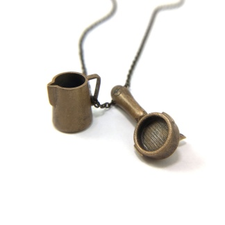 Espresso Milk Jug Barista Necklace