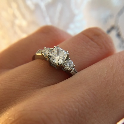 Modern Vintage Diamond Ring