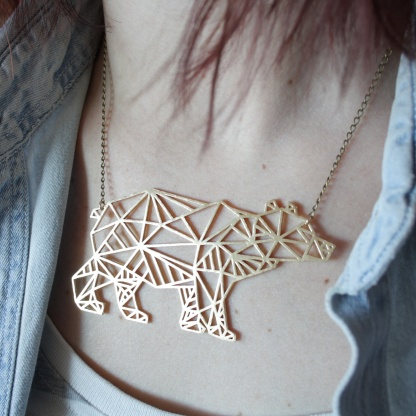 Bear Geometric Necklace