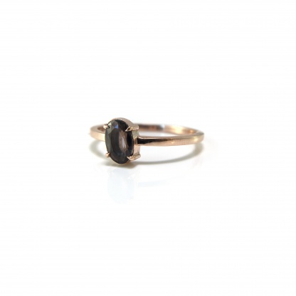 Spinel Solitaire Ring