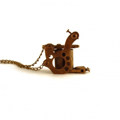 tattoo machine necklace