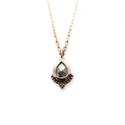 rose gold pear diamond necklace