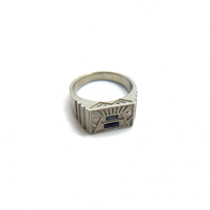 Mens Signet Engagement Ring